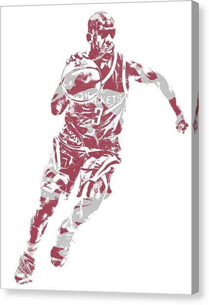 Houston Rockets Canvas Print - Chris Paul Houston Rockets Pixel Art 5 by Joe Hamilton