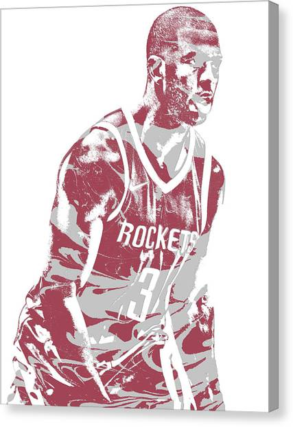 Houston Rockets Canvas Print - Chris Paul Houston Rockets Pixel Art 6 by Joe Hamilton