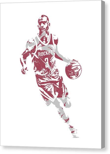 Houston Rockets Canvas Print - Chris Paul Houston Rockets Pixel Art 60 by Joe Hamilton