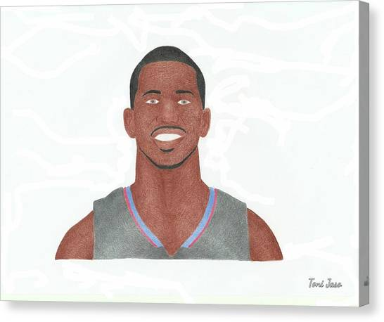 La Clippers Canvas Print - Chris Paul by Toni Jaso