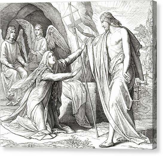 Resurrected Canvas Print - Christ Appears To Mary Magdalene by Julius Schnorr von Carolsfeld