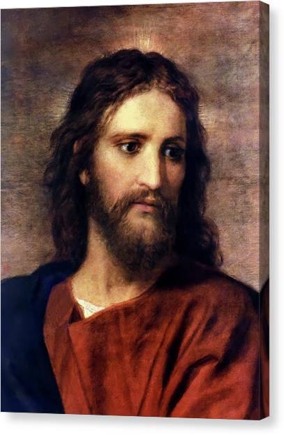 Jesus Canvas Print - Christ At 33 by Heinrich Hofmann