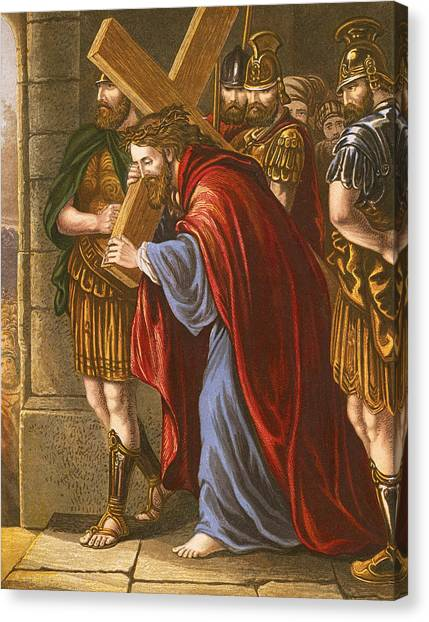 The Legion Canvas Print - Christ Bearing The Cross by English School