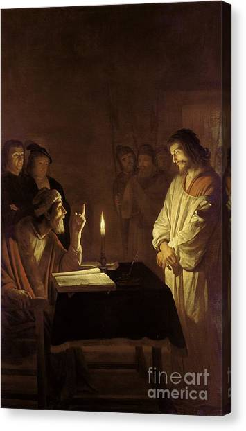 Priests Canvas Print - Christ Before The High Priest by Gerrit van Honthorst