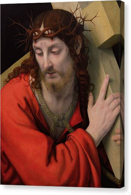 The Crown Canvas Print - Christ Carrying The Cross by Andrea Solario