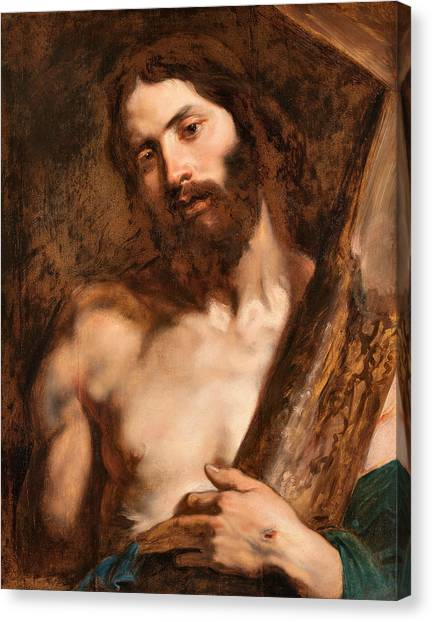 Baroque Art Canvas Print - Christ Carrying The Cross by Anthony van Dyck