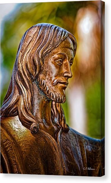 Christ In Bronze Canvas Print