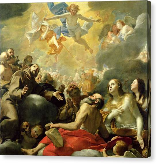 Apparition Canvas Print - Christ In Glory With The Saints by Mattia Preti