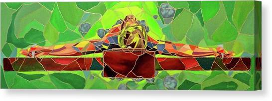 Christ In Stained Glass Canvas Print