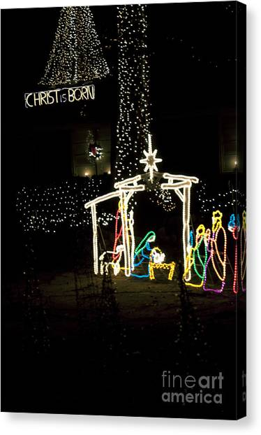 Christ Is Born Canvas Print by Affini Woodley