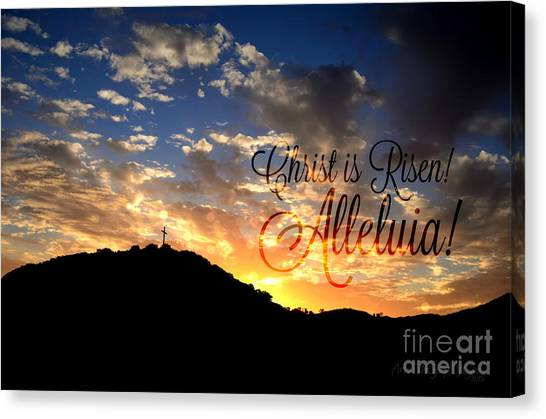 Christ Is Risen Canvas Print