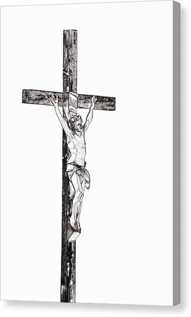 Christ On Cross Canvas Print