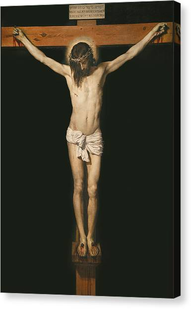 Messiah Canvas Print - Christ On The Cross by Diego Velasquez