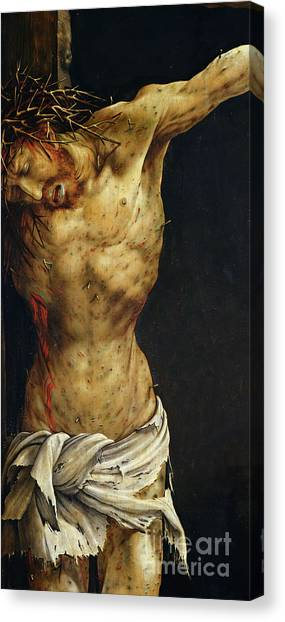 Sin Canvas Print - Christ On The Cross by Matthias Grunewald