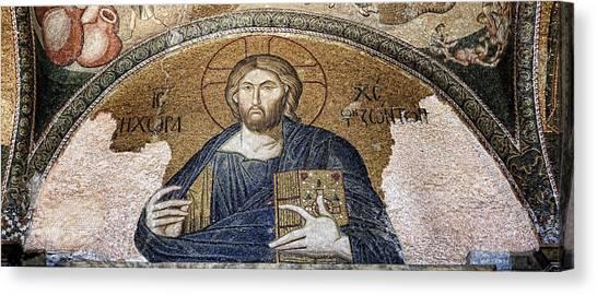 Byzantine Canvas Print - Christ Pantocrator -- Chora by Stephen Stookey