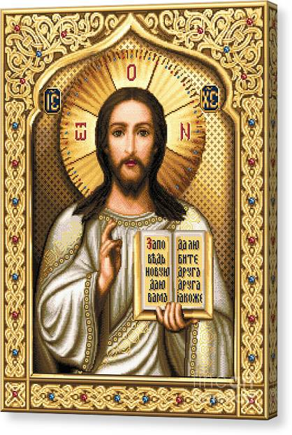 Orthodox Art Canvas Print - Christ Pantocrator by Stoyanka Ivanova
