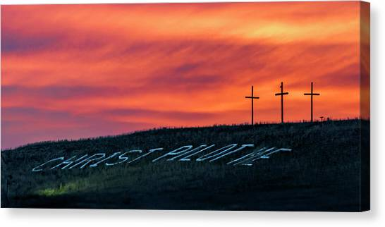 Christ Pilot Me Hill Canvas Print