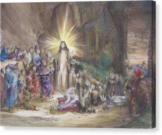 Christ Preaching          Canvas Print