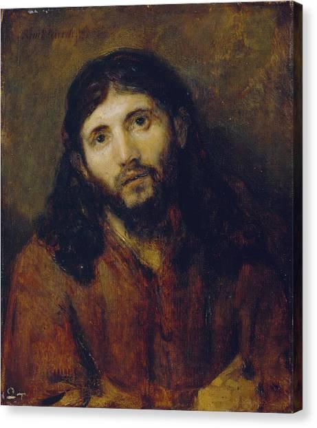 Rembrandt Canvas Print - Christ by Rembrandt Harmensz van Rijn