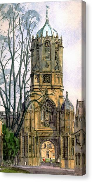 Wrens Canvas Print - Christchurch College Oxford by Mike Lester