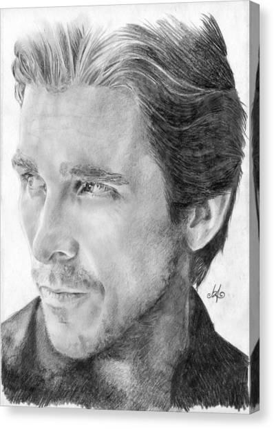 Heath Ledger Canvas Print - Christian Bale by Bianca Ferrando