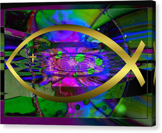 Christian Fish Ichthus Canvas Print