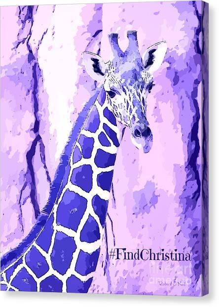 Christina's Giraffe Canvas Print