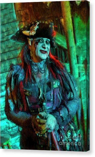 Christine Campiotti And Hunted House Canvas Print