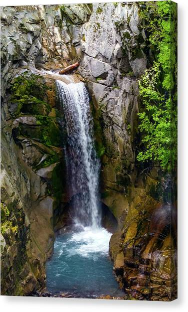 Christine Falls Mt Rainier Canvas Print