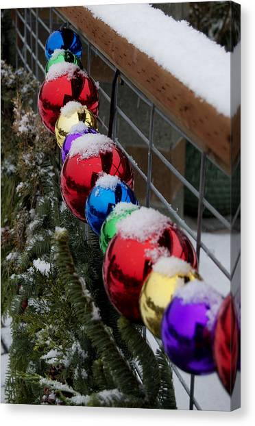 Christmas At Bayview Farm And Garden Canvas Print by Tom Trimbath