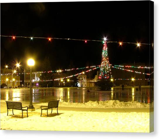 Christmas At The Anaconda Commons Canvas Print