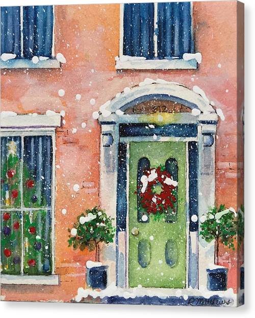 Christmas At The Rectory Canvas Print