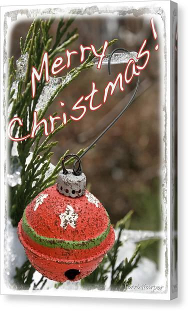 Christmas Bell Ornament Canvas Print