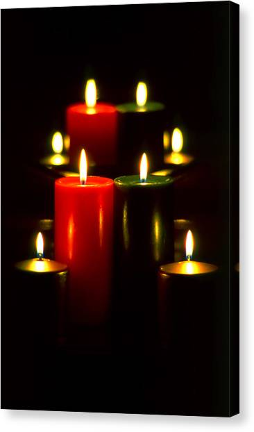 Christmas Candles 5 Canvas Print by Steve Ohlsen