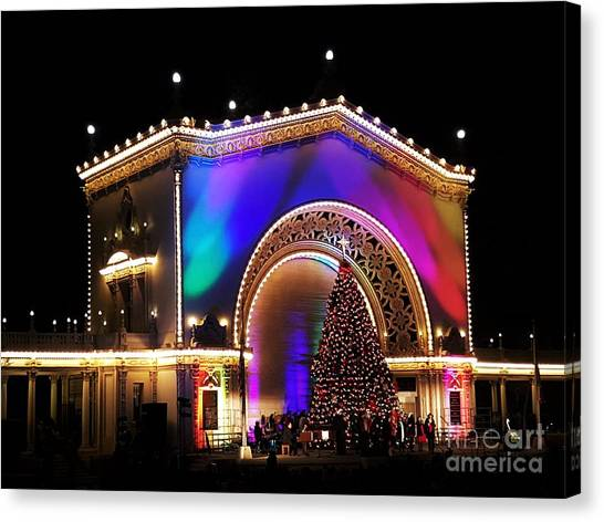 Christmas Celebration In San Diego  Canvas Print