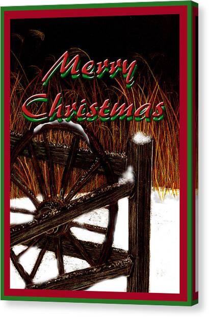 Canvas Print featuring the digital art Christmas Country by Michelle Audas