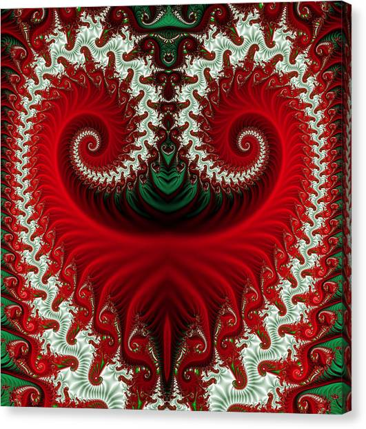 Christmas Swirls Canvas Print