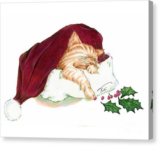 Christmas Dreamer Canvas Print by Tobi Czumak