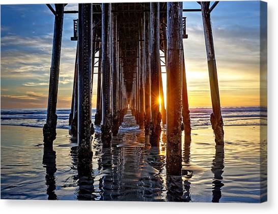 Canvas Print - Christmas Eve At The Pier by Ann Patterson