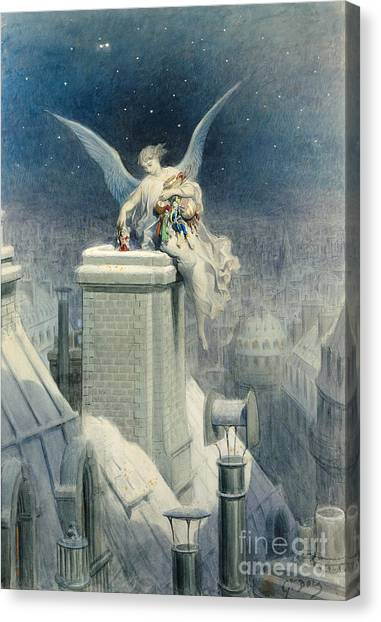 Supplies Canvas Print - Christmas Eve by Gustave Dore