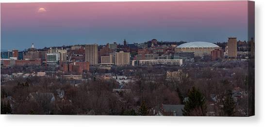 Syracuse University Canvas Print - Christmas Eve Skyline by Everet Regal