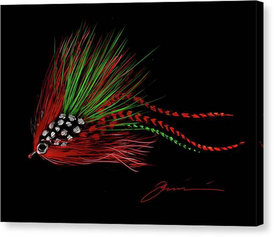 Christmas Fly Canvas Print