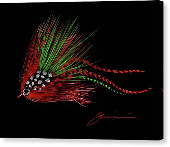 Christmas Fly Canvas Print