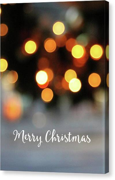 Christmas Lights Canvas Print - Christmas Glitter- Art By Linda Woods by Linda Woods