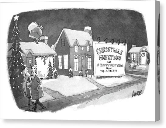 Christmas Greetings From The Applebys Canvas Print