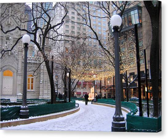 Christmas In Chicago Canvas Print