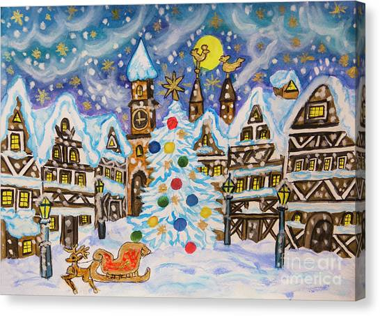 Christmas In Europe Canvas Print