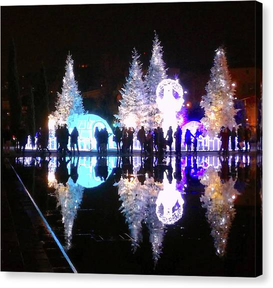 Christmas In Nizza, Southern France Canvas Print