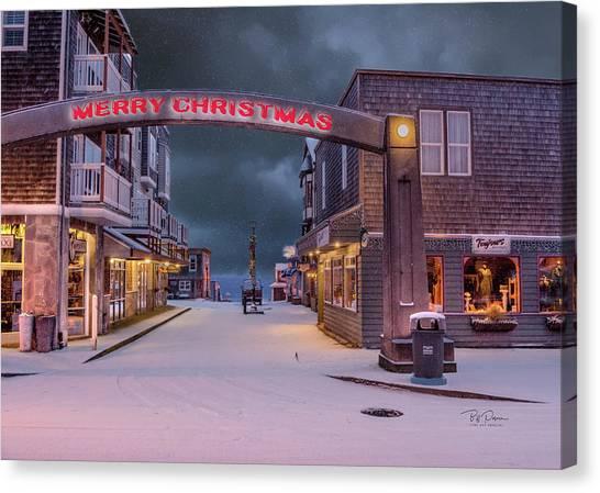 Christmas In Nye Beach Canvas Print