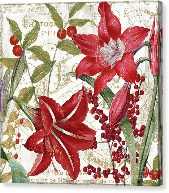 Amaryllis Canvas Print - Christmas In Paris I by Mindy Sommers